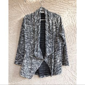 LE LIS Marled Heather Knit Cowl Cardigan Jacket